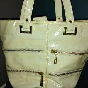 MK Cream rainy day/beach day tote bag